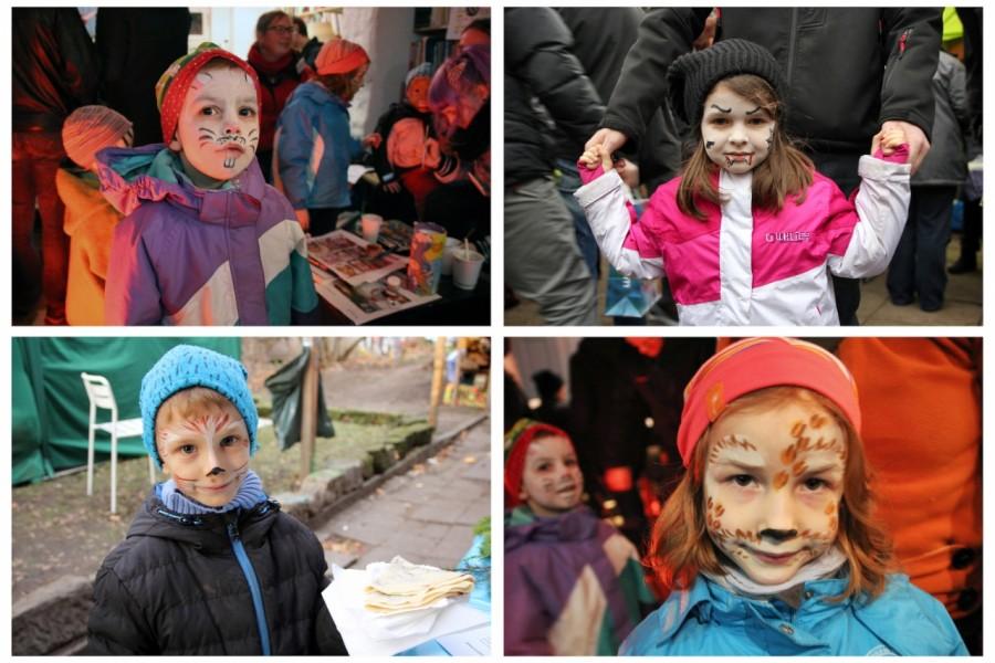 Geschminkte Gesichter von Kindern