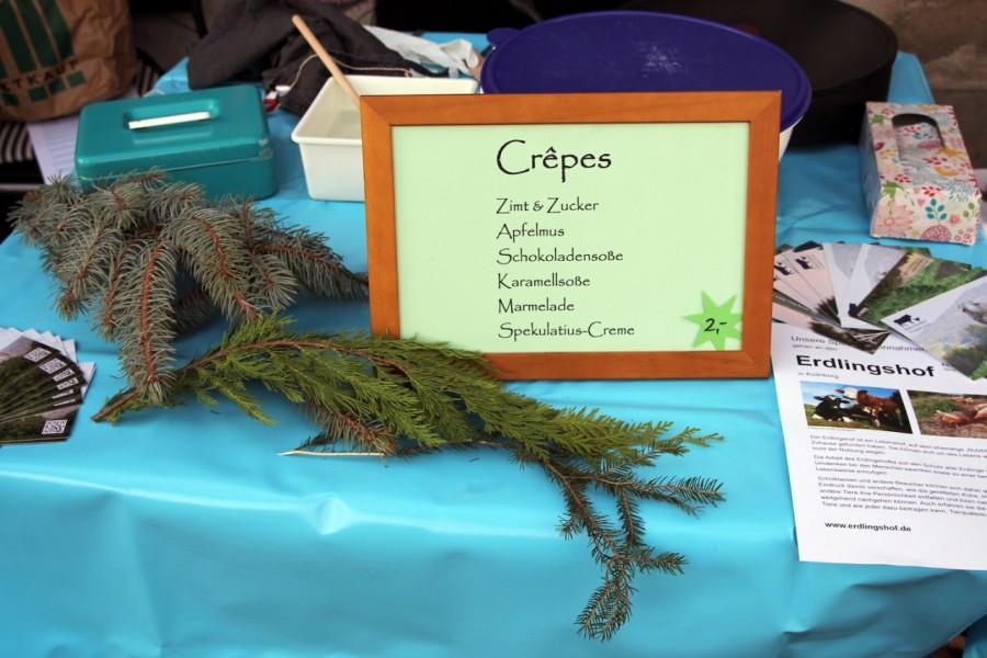 Schild für Crêpes