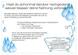 Flyer zum Wasserverbrauch in der Massentierhaltung