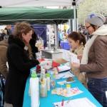 Info-Stand auf dem  Aktionstag gegen Tierversuche in Leipzig