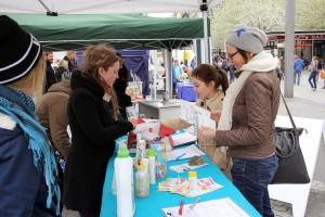Aktionstag gegen Tierversuche in Leipzig - Info-Stand