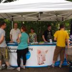 Infostand auf dem veganen Straßenfest in Cottbus