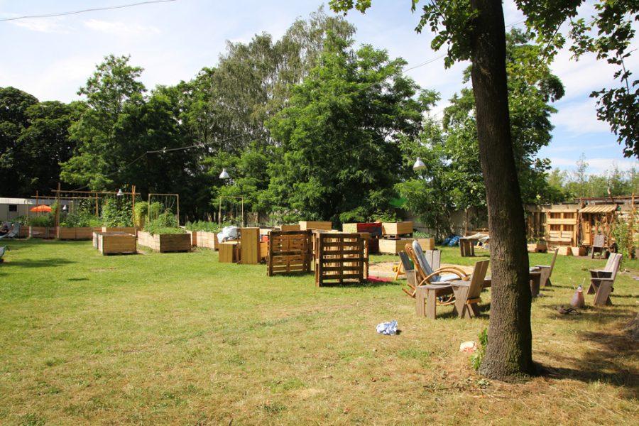 Golgi-Park beim Festspielhaus Hellerau