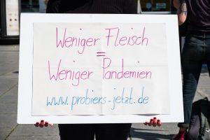 Weniger Fleisch = Weniger Pandemien www.probiers-jetzt.de